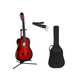 Konzertgitarre Konzertgitarren-Set 7/8 rot