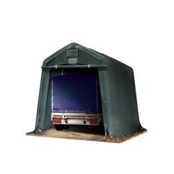 Toolport Zeltgarage 2,4x3,6m PVC 500 g/m² dunkelgrün wasserdicht Garagenzelt
