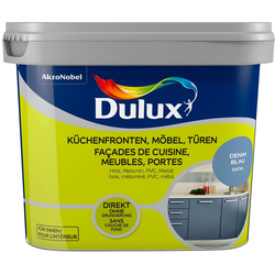 Dulux Holzlack Fresh Up, für Küchen, Möbel und Türen, denim blue, 0,75 l