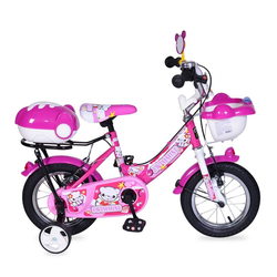 Byox Kinderfahrrad Kinderfahrrad 12 Zoll 1282, 1 Gang 1 Gang, keine, rosa mit Stützräder, Fahrradklingel, Korb, ab 3 Jahre