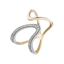 JOBO Diamantring, 585 Gold mit 36 Diamanten 56