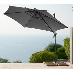 garten gut Ampelschirm, ohne Wegeplatten grau Ampelschirm Sonnenschirme -segel Gartenmöbel Gartendeko