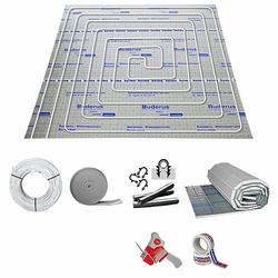 10 m² Fußbodenheizung-Set - Tackersystem (Isolierung wählen: Stärke 30-3 mm)