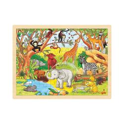 goki Puzzle Holzpuzzle 48 Teile Afrika, Puzzleteile
