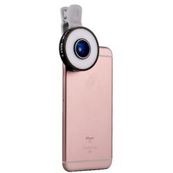 PRECORN LED Selfie Kamera in der Farbe schwarz Handylicht 6 in 1 Multi LED Objektiv für iPhone 5, 6 plus 6 S Samsung Smartphones uvm. Clip-on Blitzlicht Fischaugen-Objektiv 10X Makro, 0.65X Weitwinkel Objektiv Weitwinkelobjektiv