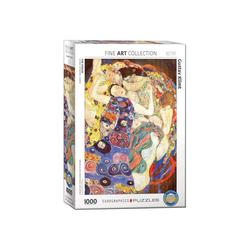 empireposter Puzzle Gustav Klimt - Die Jungfrau - 1000 Teile Puzzle im Format 68x48 cm, 1000 Puzzleteile