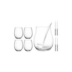 LEONARDO Gläser-Set LIMITED Bowleset 10-teilig, Edelstahl