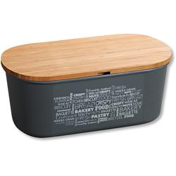 KESPER for kitchen & home Brotkasten, (1 tlg.), mit Deckel als Schneidbrett grau Aufbewahrung Küchenhelfer Haushaltswaren Lebensmittelaufbewahrungsbehälter