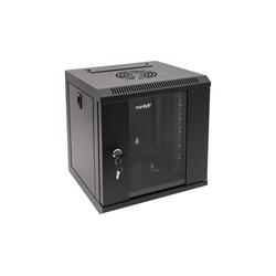 HMF Serverschrank 10 Zoll, 6-12 HE Netzwerk-Switch (6 HE, Netzwerkschrank voll Montiert, 31,2 x 30 x 35 cm, Schwarz) schwarz 31.2 cm x 35 cm x 30 cm