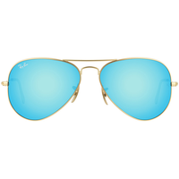 Ray Ban Aviator Flash Lenses RB3025 58mm gold / blue flash