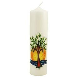 Kerze Lebensbaum / Sonne