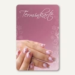 officio Terminkarte NAGELDESIGN, 6 Termine, 55 x 85 mm, zum Stempeln, 100 Stück