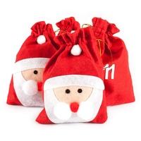 pajoma XXL Adventskalender Nikolaus 24 Beutel zum Befüllen Weihnachtsdeko