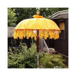 Oriental Galerie Sonnenschirm Bali-Sonnenschirm 90 cm Gelb Gold Modell Singapur, Handarbeit