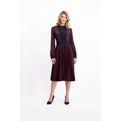 Lavard Dunkelblaues Kleid mit Mustern 85050