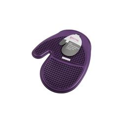 STÄDTER Backeinsatz Silikon Backofen-Handschuh, ca. 19,5 x 22,5 cm lila