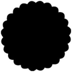 Stanze Kreis mit Wellenmuster 38 mm