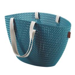 CURVER Einkaufskorb / Strandtasche Emily KNIT blau
