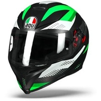 AGV K-5 S Marble Black/White/Green
