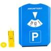 Parkscheibe mit Eiskratzer, Einkaufs-Chip und Profilmesser