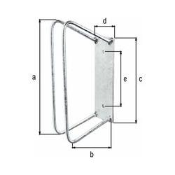 Einzel-Fahrradhalter 45 Grad Radbreite 25 - 53 mm