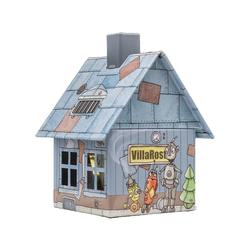 Crottendorfer Räucherhaus 2197, Villa Rost, Räucherhäuschen aus Metall für Standardräucherkerzen