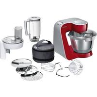 Bosch MUM58720 Küchenmaschine CreationLine, 1000 W, 3,9 l Edelstahl-Rührschüssel, 3D Rührsystem, 7 Schaltstufen, dunkle rot/silber