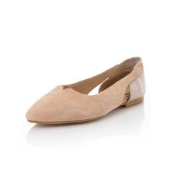 Alba Moda Ballerina, in spitzer Form beige Damen Ballerinas Ballerina