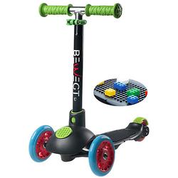 3-Rollen Kleinkinder Scooter Zum Spielen mit Bausteinen Roller schwarz