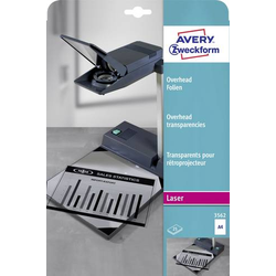 Avery-Zweckform 3562 Overhead-Projektor-Folie DIN A4 Laserdrucker, Kopierer Transparent 25St.