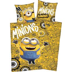 Minions Kinderbettwäsche Minions, mit tollem Motiv bunt Bettwäsche 135x200 cm nach Größe Bettwäsche, Bettlaken und Betttücher