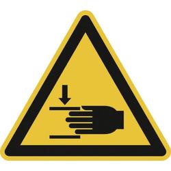 Warnschild Handverletzungsgefahr Aluminium 100mm ISO 7010 1St.