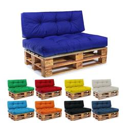 Easysitz Sitzkissen Palettenkissen Set, 120 x 80 cm für Europaletten blau