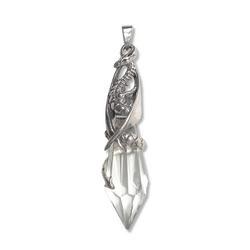 Adelia´s Amulett Silver Myth von Anne Stokes Talisman, Bewahrer des Kristalls - Für Genesung und Wahrsagung