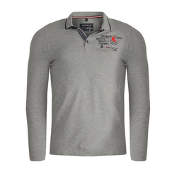 MARVELIS Longsleeve Poloshirt - Longsleeve - Uni grau 3XL