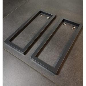 2er Set Anthrazit/Grau Handtuchhalterung/Wandhalterung Waschtischplatte Regalträger Konsolenhalterung Wandkonsole Konsolenträger