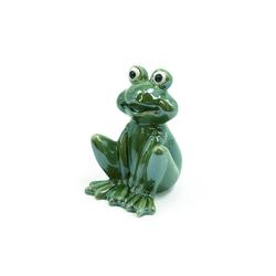 HTI-Living Gartenfigur Porzellanfigur Frosch grün lasiert