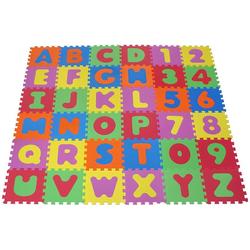 Knorrtoys® Puzzle Alphabet und Zahlen, 36 Puzzleteile, Puzzlematte, Bodenpuzzle bunt