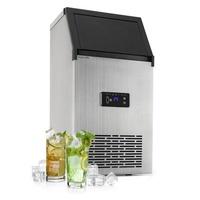 Klarstein XL Profi-Eiswürfelmaschine 38kg/d 15l LED Edelstahl schwarz