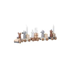 Bloomingville Kerzenhalter Kerzenhalter Kinder-Geburtstagszug Happy Birthday grau 38 cm x 11 cm