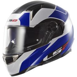LS2 FF396 Dart FT2 Thunderbolt Helm Wit Blauw XS