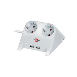 Brennenstuhl Desktop-Power USB-Charger, 2-fach Steckdose Steckdosenleiste