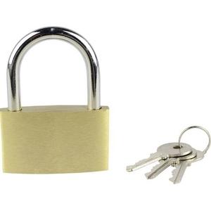Brüder Mannesmann 413-50 Vorhängeschloss 50mm Gold-Gelb Schlüsselschloss