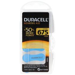 Hörgeräte Batterie Duracell 13, IEC PR48 Zink Air Batteries 6 Stück in Kunststoffbox