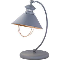 WOFI Florence 8249.01.50.6000 Tischlampe LED E27 60W Grau, Kupfer
