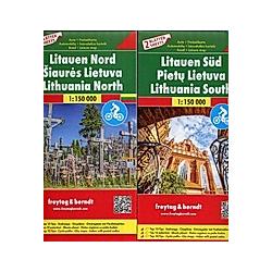 Litauen  Autokarten Set 1:150.000 - Buch