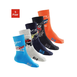 H.I.S Socken (5-Paar) mit Automotiven bunt 23-26