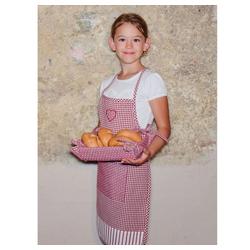 matches21 HOME & HOBBY Kochschürze Kinderschürze Kinder Kochschürze Landhaus Premium Herz, (1-tlg) rot