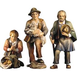 ULPE WOODART Krippenfigur Drei Hirten (Set, 3 Stück), Handarbeit, hochwertige Holzschnitzkunst