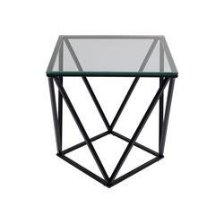 KARE Beistelltisch Beistelltisch Cristallo Schwarz 50x50 schwarz
